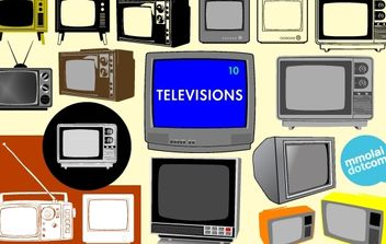 Old Model Vector Television Set - vector #174543 gratis