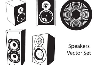 Vector Speaker Set - vector gratuit #174553