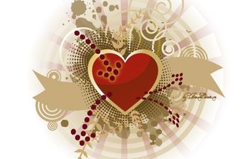 Heart of peace and love - Free vector #174593
