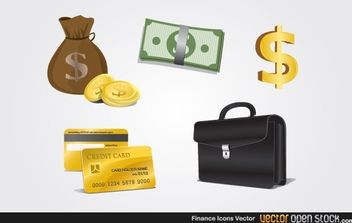 Finance Icons - vector #174613 gratis