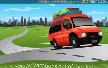 Vacations out of the city - vector gratuit #174653