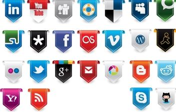 New Social Media Vector Icons - vector gratuit #174813
