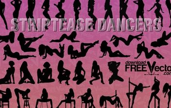 Silhouette Striptease Dancers - бесплатный vector #174843