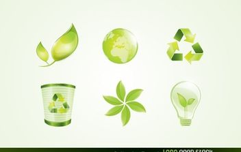 Eco Vector Logo Elements - бесплатный vector #174863