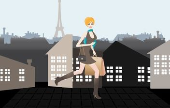 Shopping in Paris - vector gratuit #174873