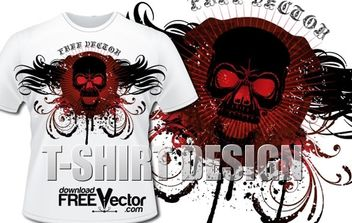 Template T-Shirt Design - vector #174883 gratis