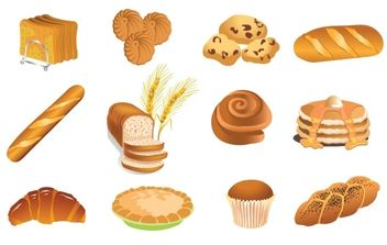 Bakery Products Vector - vector gratuit #174893
