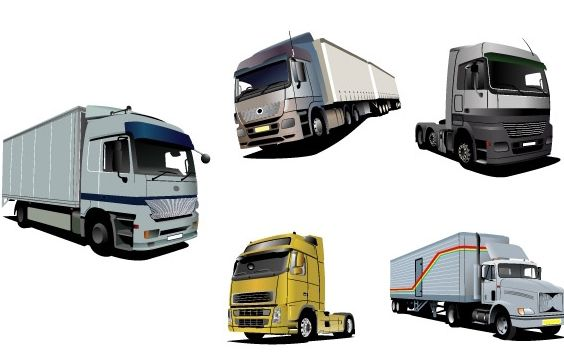 Vector trucks set - vector gratuit #174913