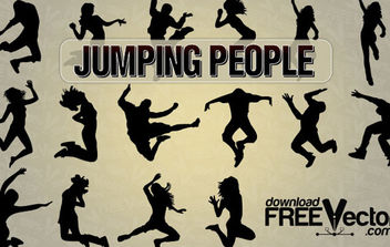 Vector Jumping People - Free vector #175023