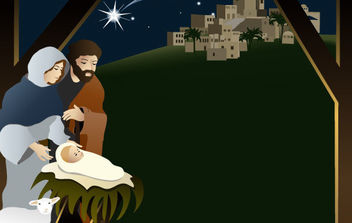 Christmas Nativity Scene 3 - vector gratuit #175083