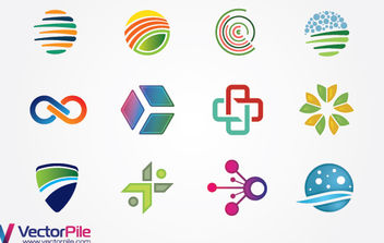 Mixed Logo Design Elements - бесплатный vector #175113