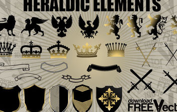 Free Vector Heraldic Elements - vector gratuit #175223