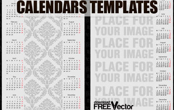 Free Vector Calendars Templates - Kostenloses vector #175253