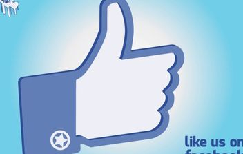 Facebook Like Hand - vector gratuit #175293