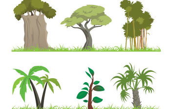 Vector Jungle Tree - Free vector #175383