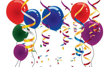 Balloons and streamers - Free vector #175423