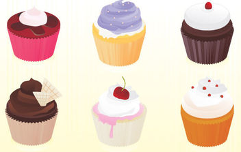 Free vector cupcakes - Free vector #175483