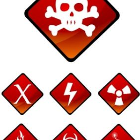 Warning Sign Icons - vector gratuit #175493