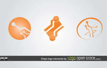 Chip Logo Elements - vector gratuit #175583