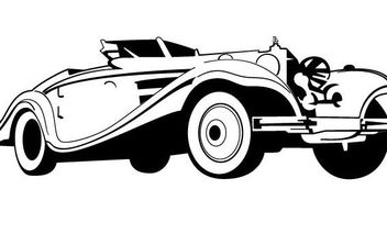 Old Car Vector - vector gratuit #175593