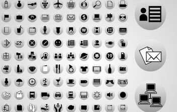 90 Vector Web Icons - Free vector #175633