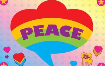 Peace Graphics - vector gratuit #175643
