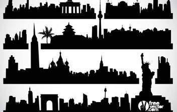 Cityscapes Vector - бесплатный vector #175753