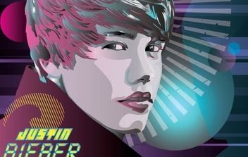 Justin Bieber World Vector - Free vector #175913