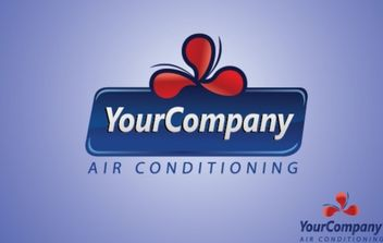 Air Conditioning Logo Template - vector gratuit #175973