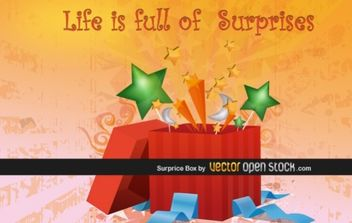 Surprise box - Free vector #175993