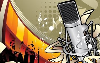 Music Illustration Vector Material 1 - Free vector #176003