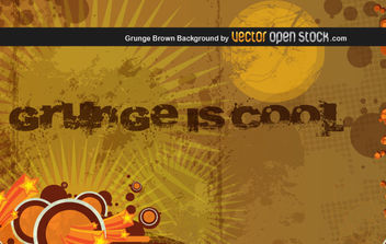 Grunge Brown Background - Free vector #176013