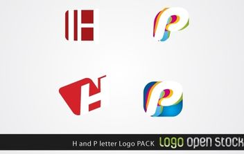 H and P letter Logo Pack - vector gratuit #176073