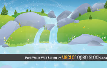 Pure Water Well Spring - Kostenloses vector #176293