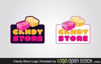 Candy Store Logo Template - vector gratuit #176323