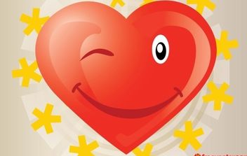 Heart Vector Cartoon - Free vector #176333