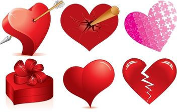 Love Heart Vectors - Free vector #176353