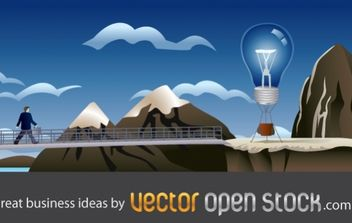 Great business ideas - vector gratuit #176523
