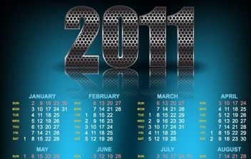Year 2011 Calendars 21 - vector #176543 gratis