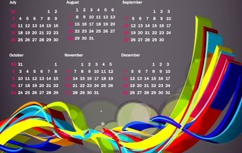 Colorful 2011 Vector Calendar - vector #176553 gratis