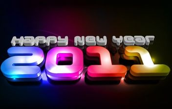 new year 2011 - vector gratuit #176573