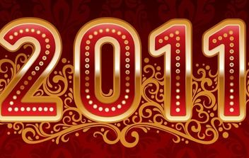 New Year 2011 Vector - vector #176643 gratis