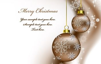 Christmas vector background - vector #176663 gratis