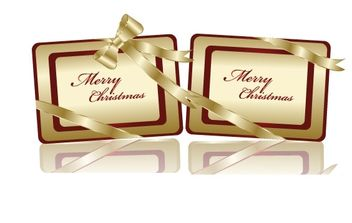 Free Golden Christmas Tags - vector gratuit #176683