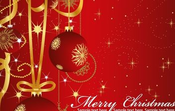 Vector Christmas Greeting Cards - Free vector #176713