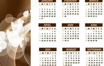 2011 TABLE CALENDAR TEMPLATE VECTOR DESIGN COREL DRAW CDR ILLUSTRATOR EPS - vector #176733 gratis