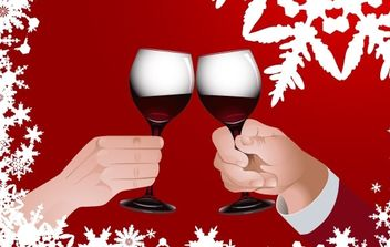 Christmas toast - Free vector #176763
