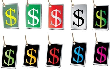 FREE VECTORS OF MONEY SIGN TAGS - Free vector #176803