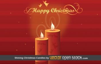Shining Christmas Candles - vector gratuit #176813