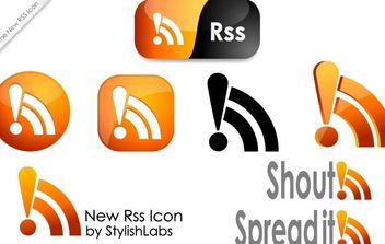 new RSS icon - Free vector #176883